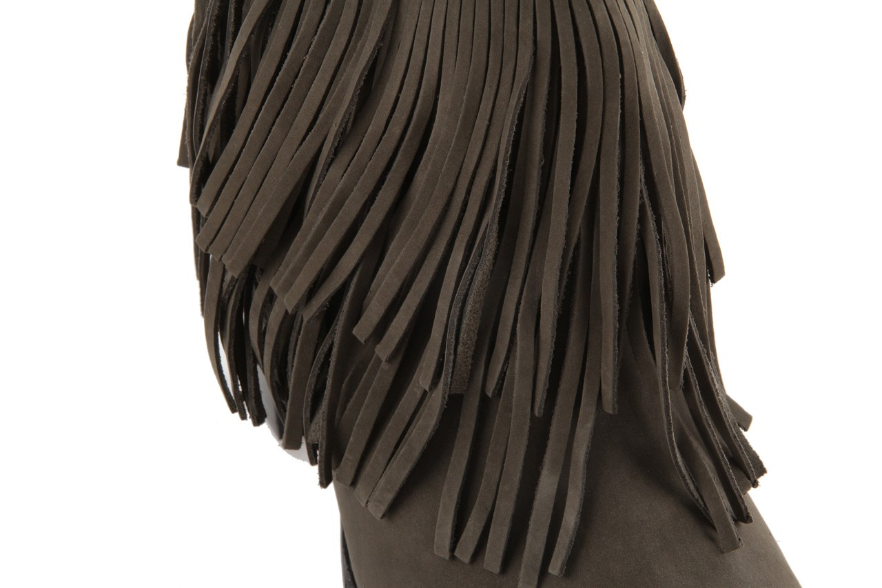 Botki bayla-067 123501 nobuck ashes, brąz, skóra naturalna - kowbojki / boho - botki - buty damskie - kobieta 11