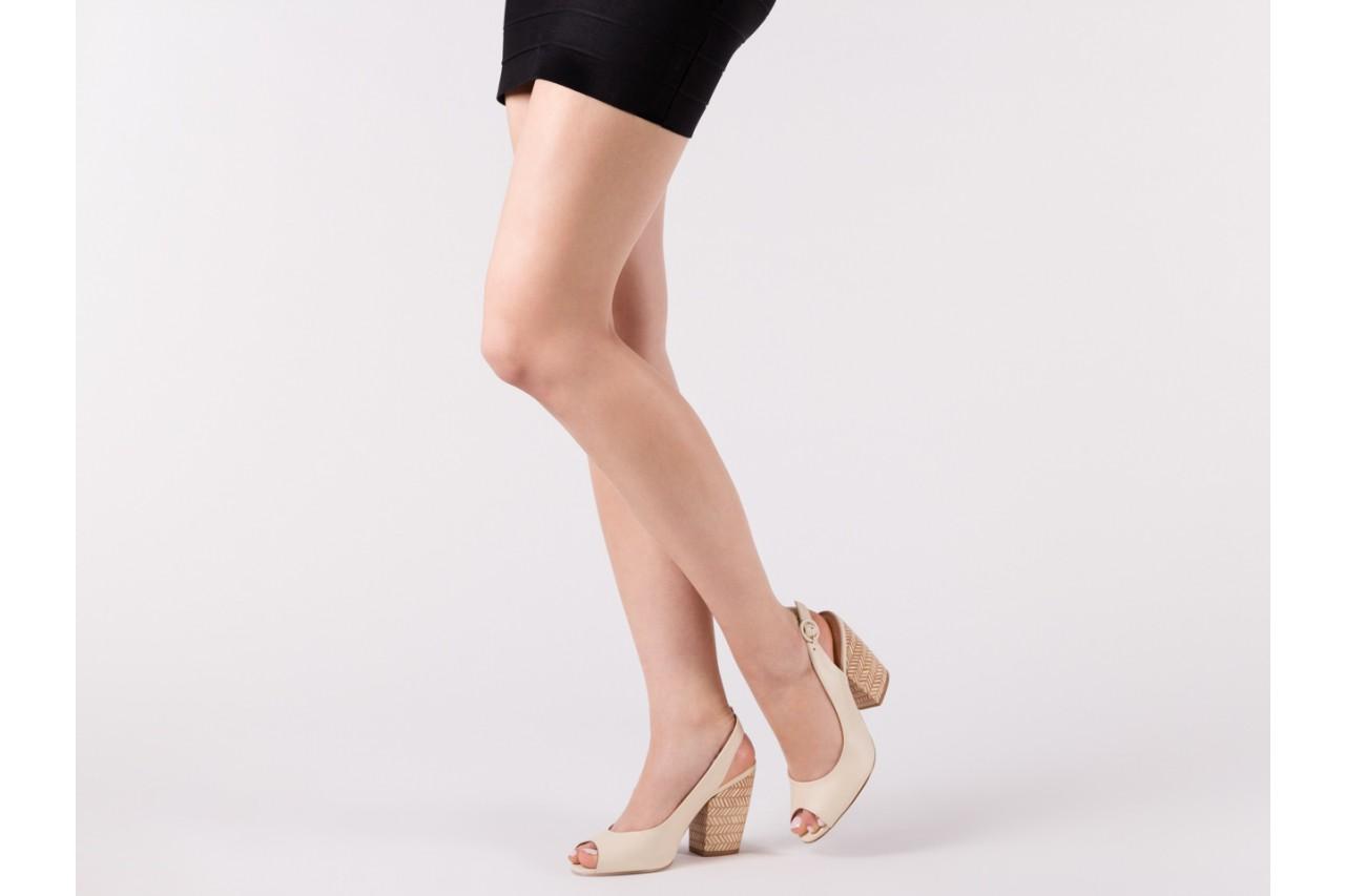 Sandały bayla-067 113216 vegatal vanilla, beż, skóra naturalna  - bayla - nasze marki 13