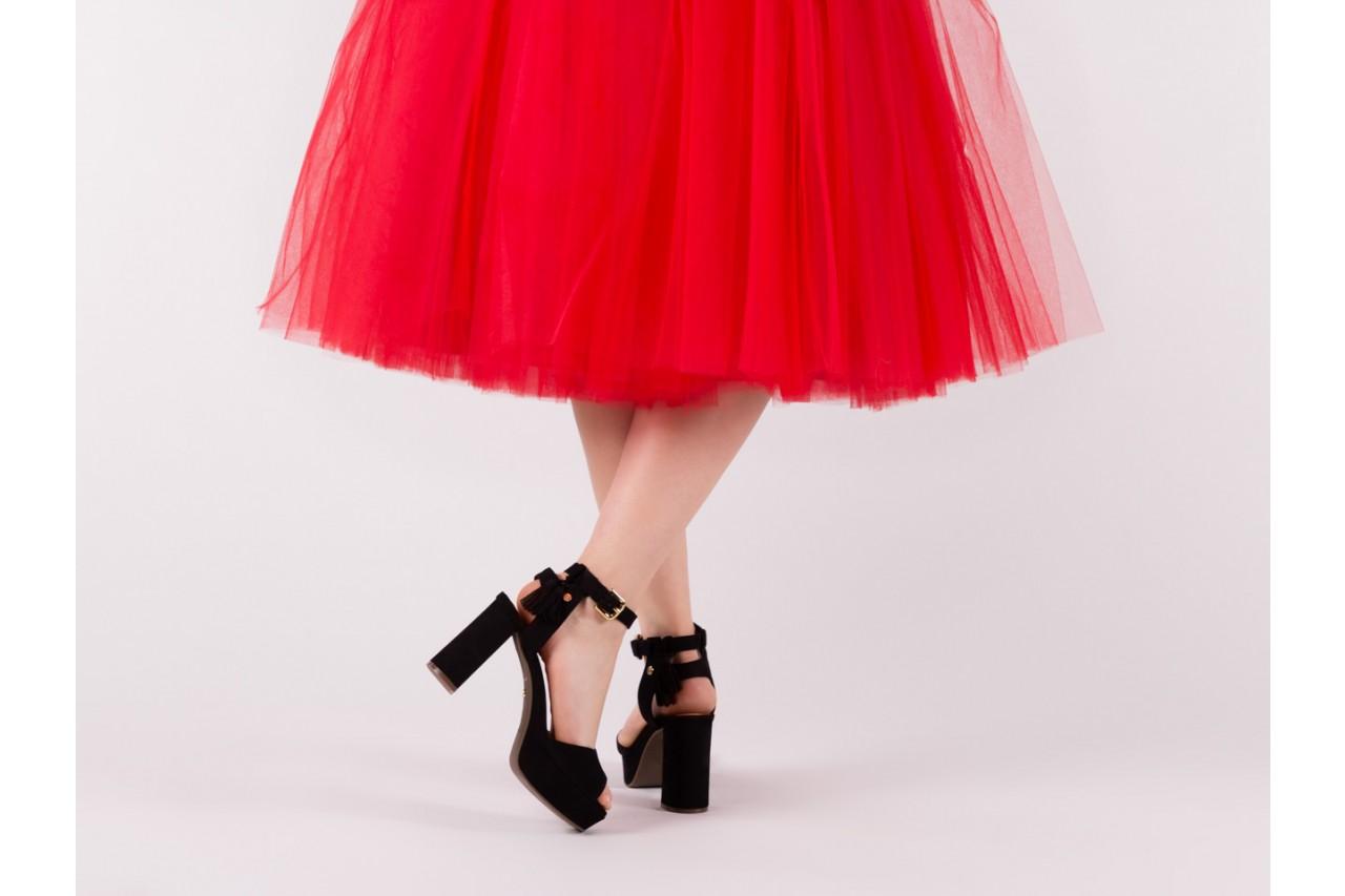 Sandały bayla-067 129006 nobuck black, czarny, skóra naturalna  - na platformie - sandały - buty damskie - kobieta 13