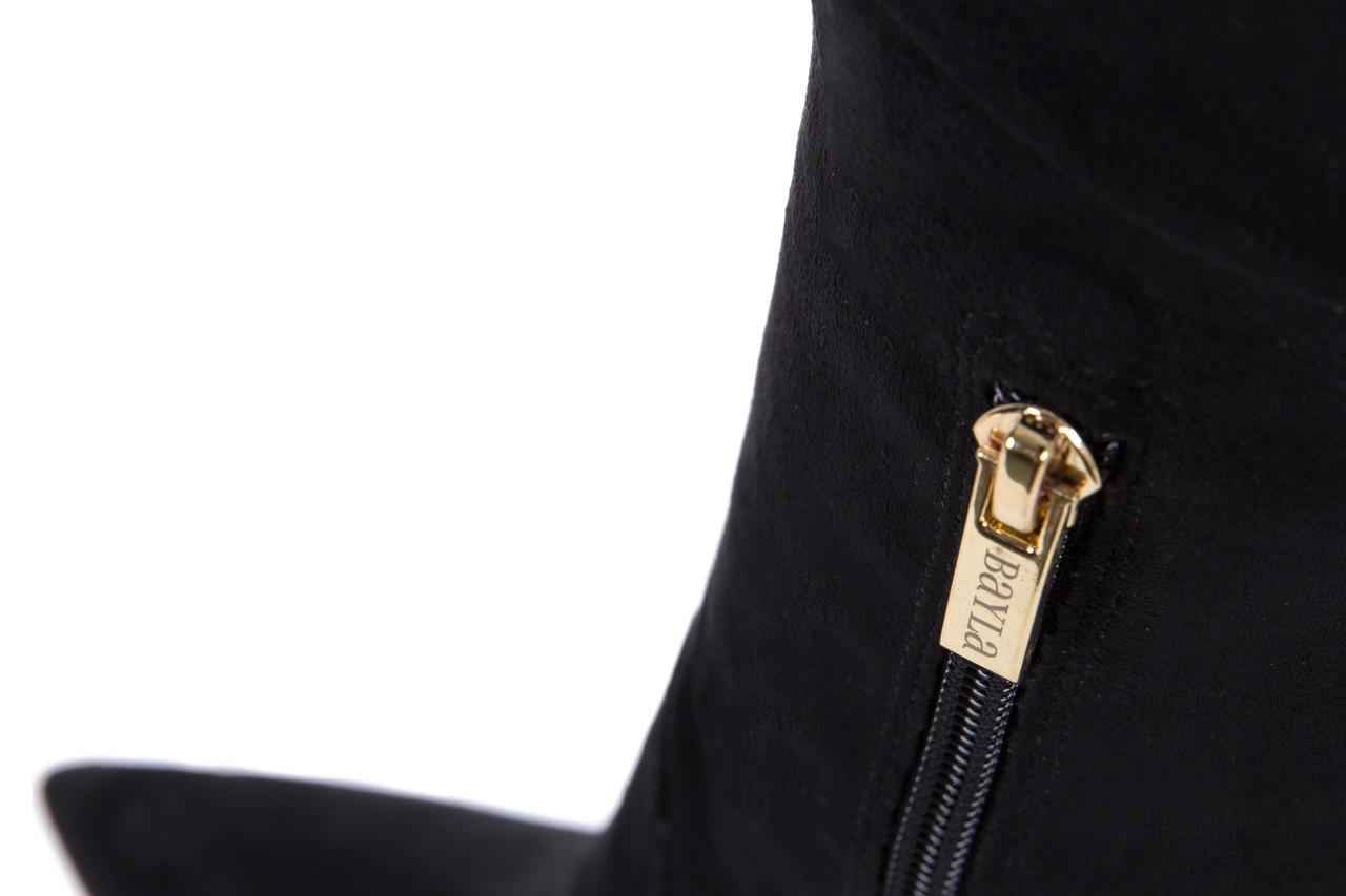Kozaki bayla-067 130307 nobuck strech black, czarny, skóra ekologiczna  - z elastyczną cholewką / stretch - kozaki - buty damskie - kobieta 14