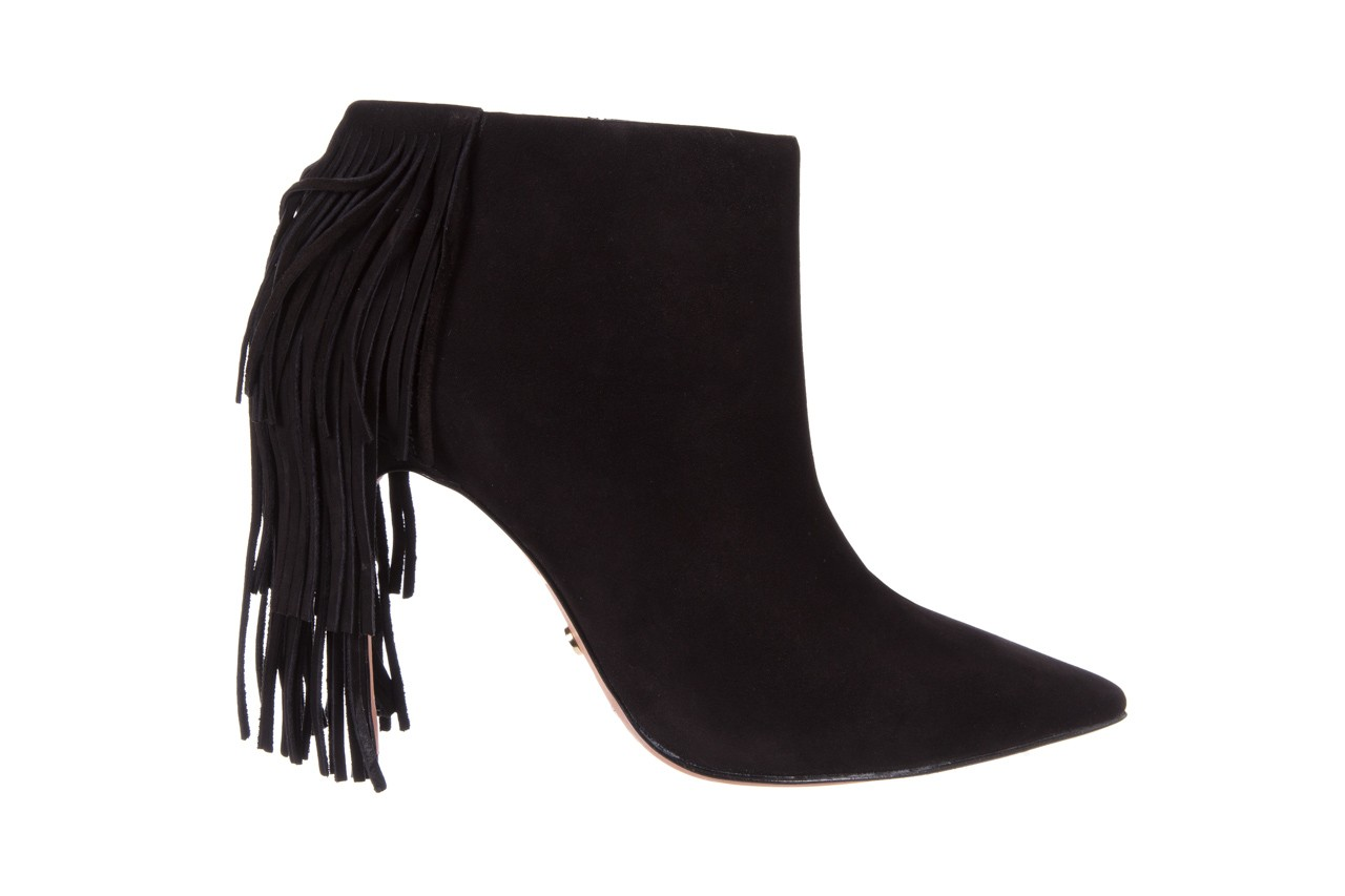 Botki bayla-067 130329 nobuck black, czarny, skóra naturalna  - na szpilce - botki - buty damskie - kobieta 7