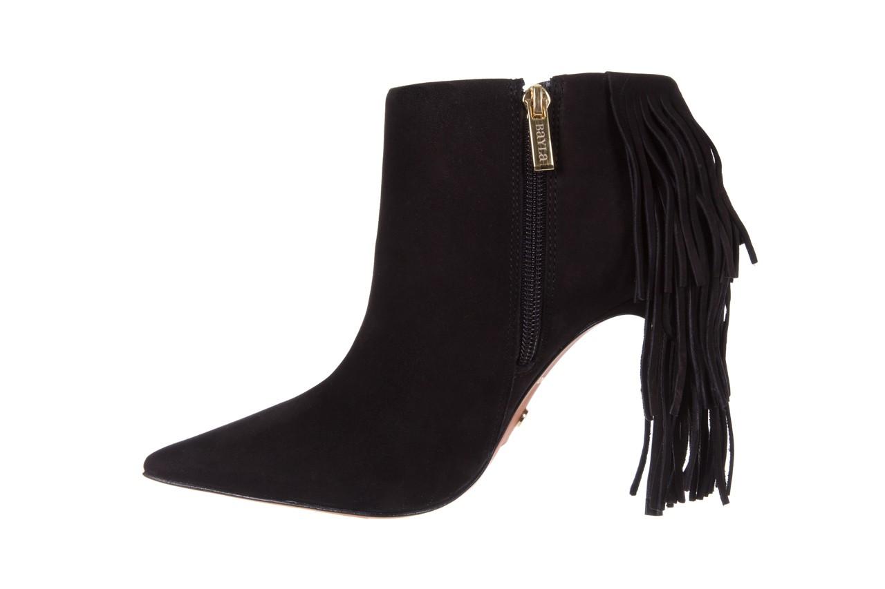 Botki bayla-067 130329 nobuck black, czarny, skóra naturalna  - na szpilce - botki - buty damskie - kobieta 9