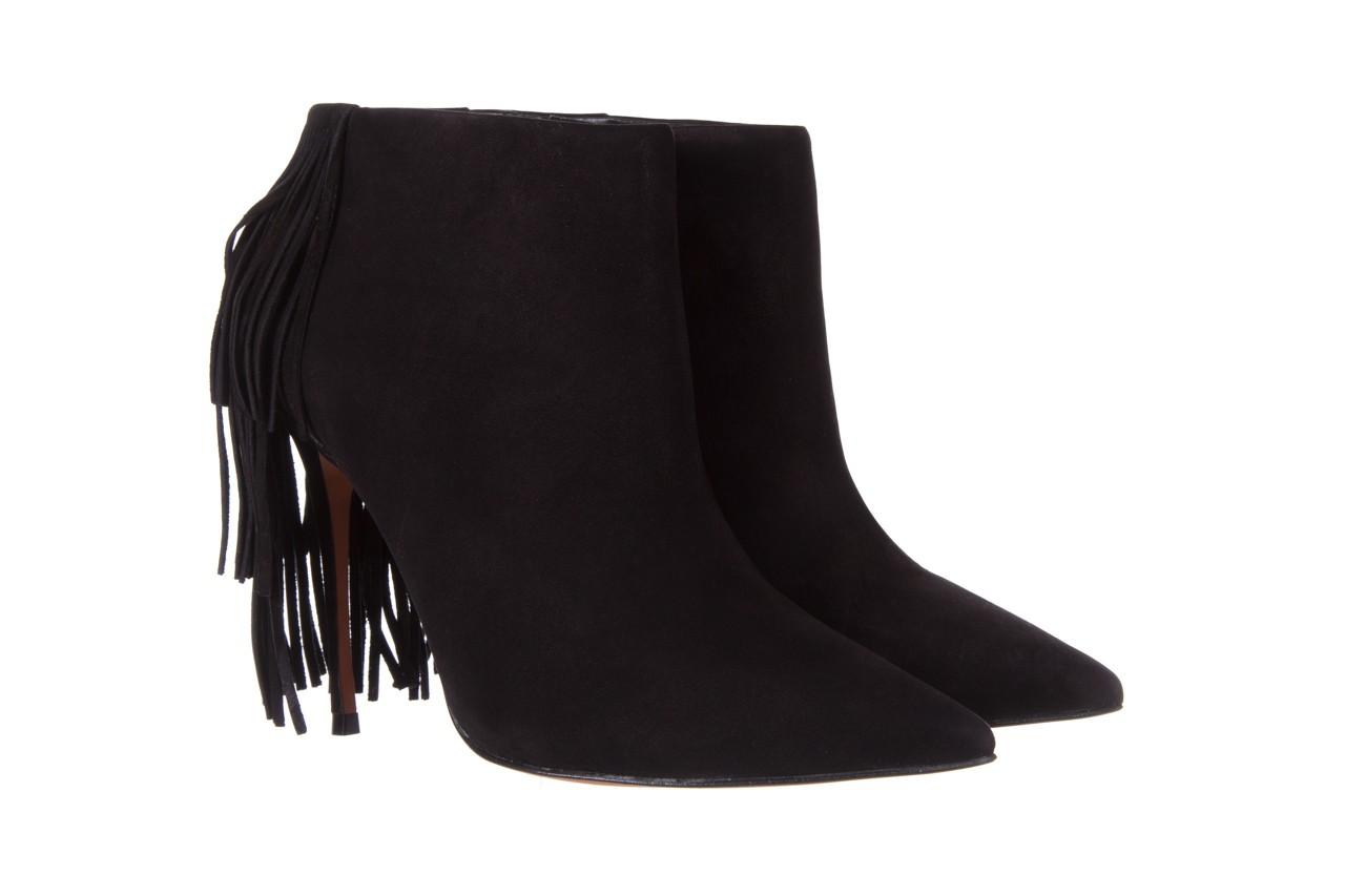 Botki bayla-067 130329 nobuck black, czarny, skóra naturalna  - na szpilce - botki - buty damskie - kobieta 8