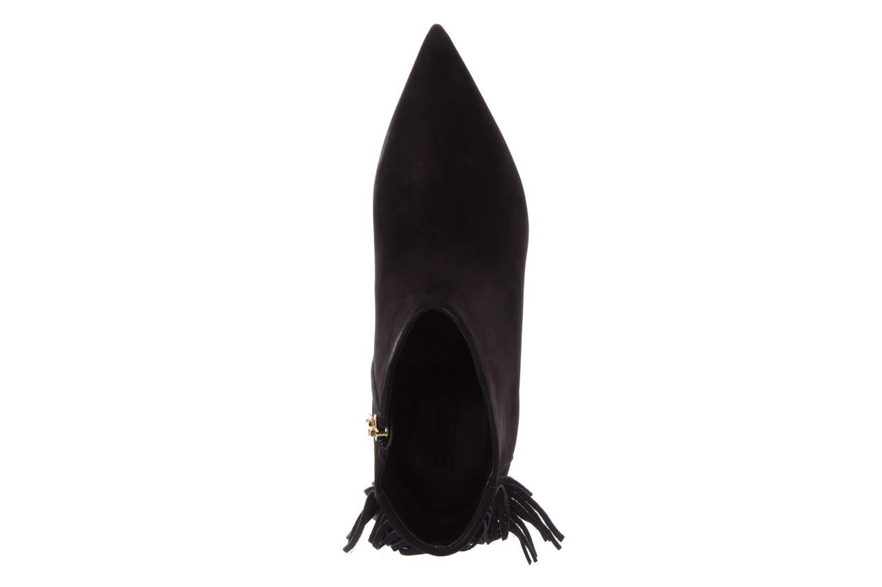 Botki bayla-067 130329 nobuck black, czarny, skóra naturalna  - szpilki - babie lato -15% 11