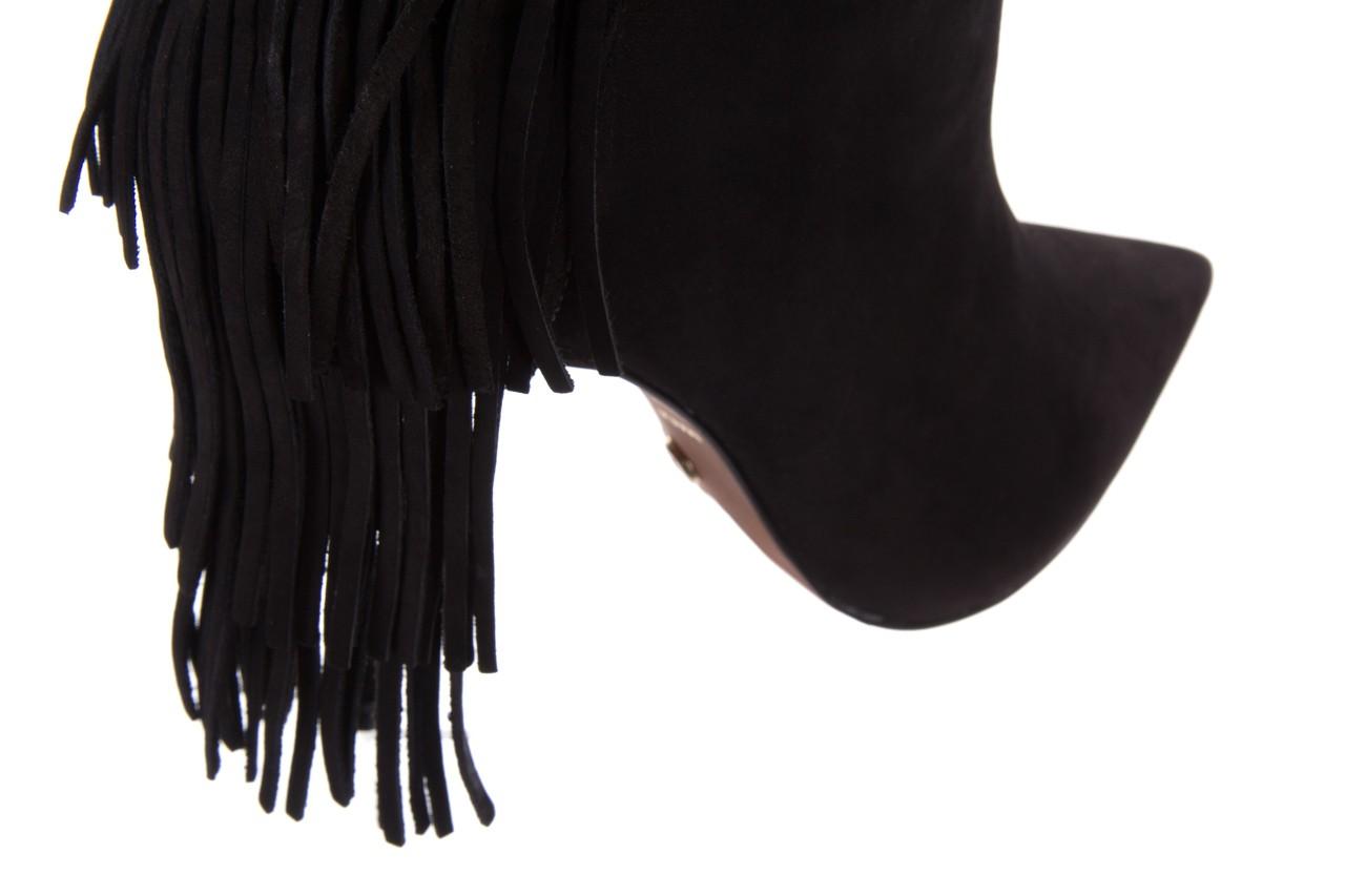 Botki bayla-067 130329 nobuck black, czarny, skóra naturalna  - na szpilce - botki - buty damskie - kobieta 12