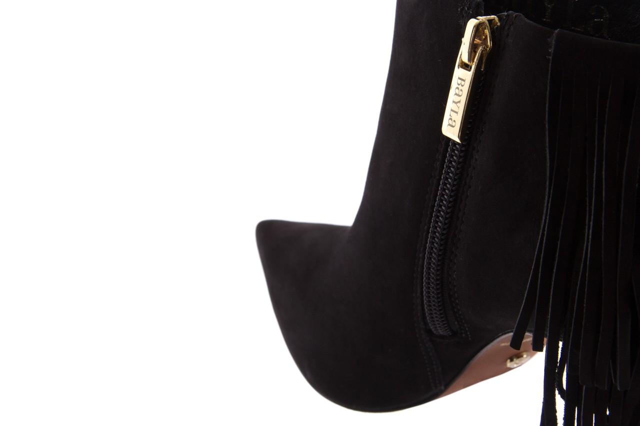 Botki bayla-067 130329 nobuck black, czarny, skóra naturalna  - na szpilce - botki - buty damskie - kobieta 13
