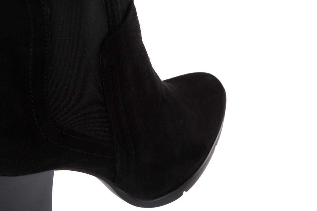 Botki bayla-070 6531662 fashion nero, czarny, skóra naturalna  - bayla - nasze marki 12