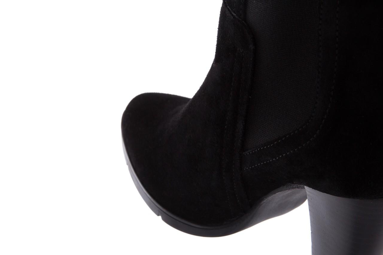 Botki bayla-070 6531662 fashion nero, czarny, skóra naturalna  - bayla - nasze marki 13