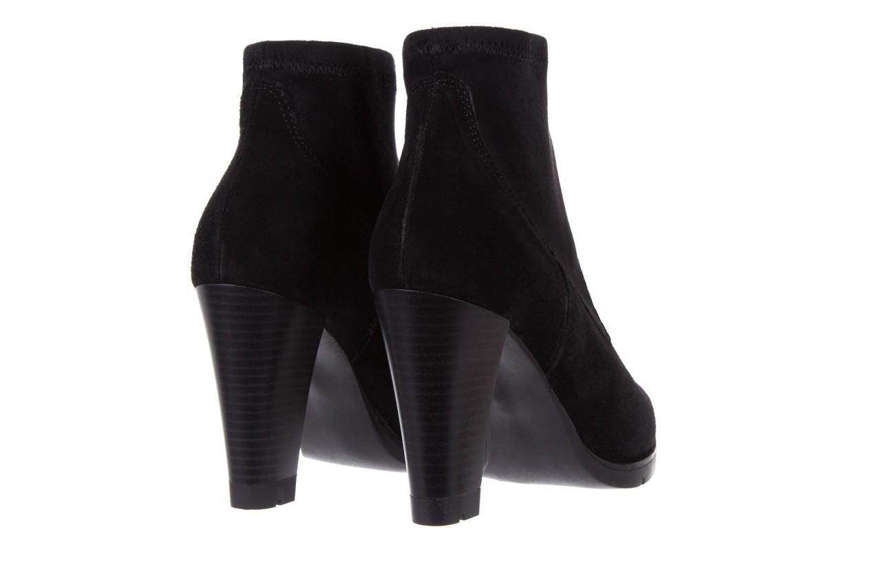 Botki bayla-070 6531667 fashion nero stretch, czarny, skóra naturalna  - hity cenowe 10