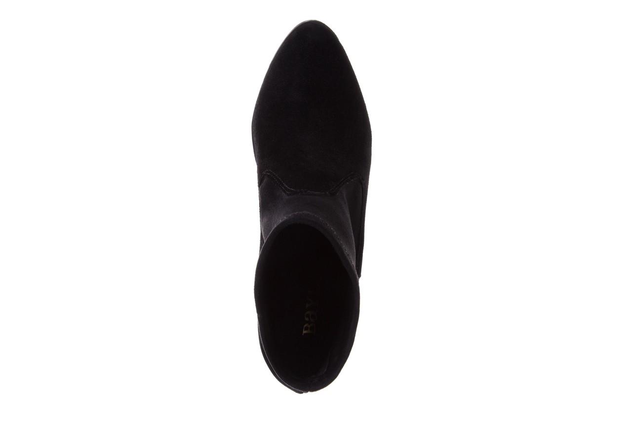 Botki bayla-070 6531667 fashion nero stretch, czarny, skóra naturalna  - hity cenowe 11