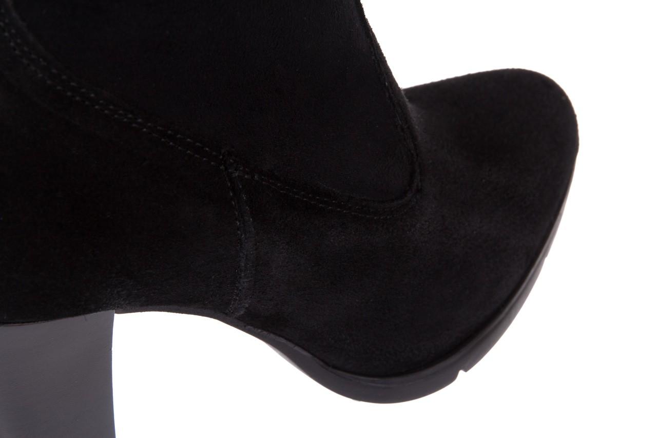 Botki bayla-070 6531667 fashion nero stretch, czarny, skóra naturalna  - hity cenowe 12