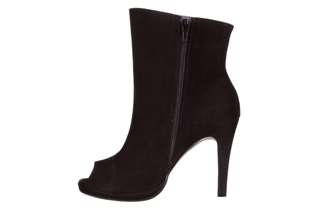 Botki bayla-076 1579z czarny, skóra naturalna  - zamszowe - szpilki - buty damskie - kobieta 7