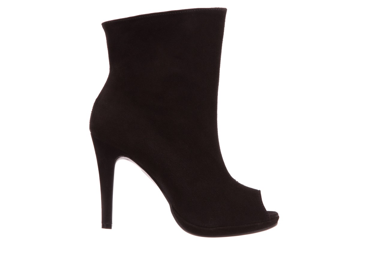 Botki bayla-076 1579z czarny, skóra naturalna  - zamszowe - szpilki - buty damskie - kobieta 5