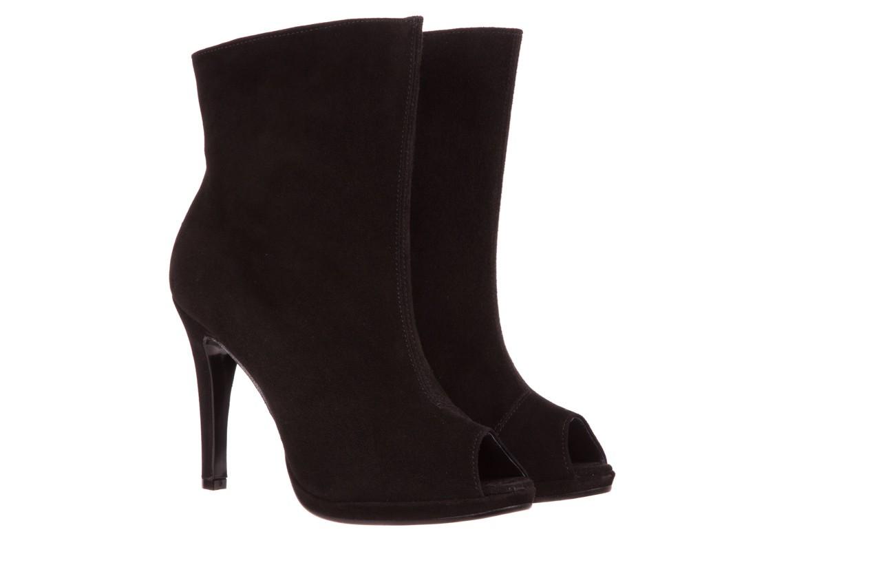 Botki bayla-076 1579z czarny, skóra naturalna  - zamszowe - szpilki - buty damskie - kobieta 6