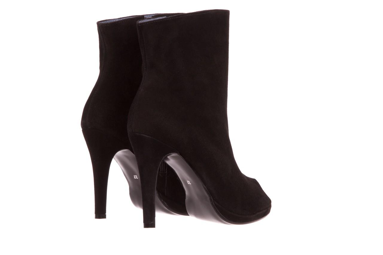 Botki bayla-076 1579z czarny, skóra naturalna  - zamszowe - szpilki - buty damskie - kobieta 8