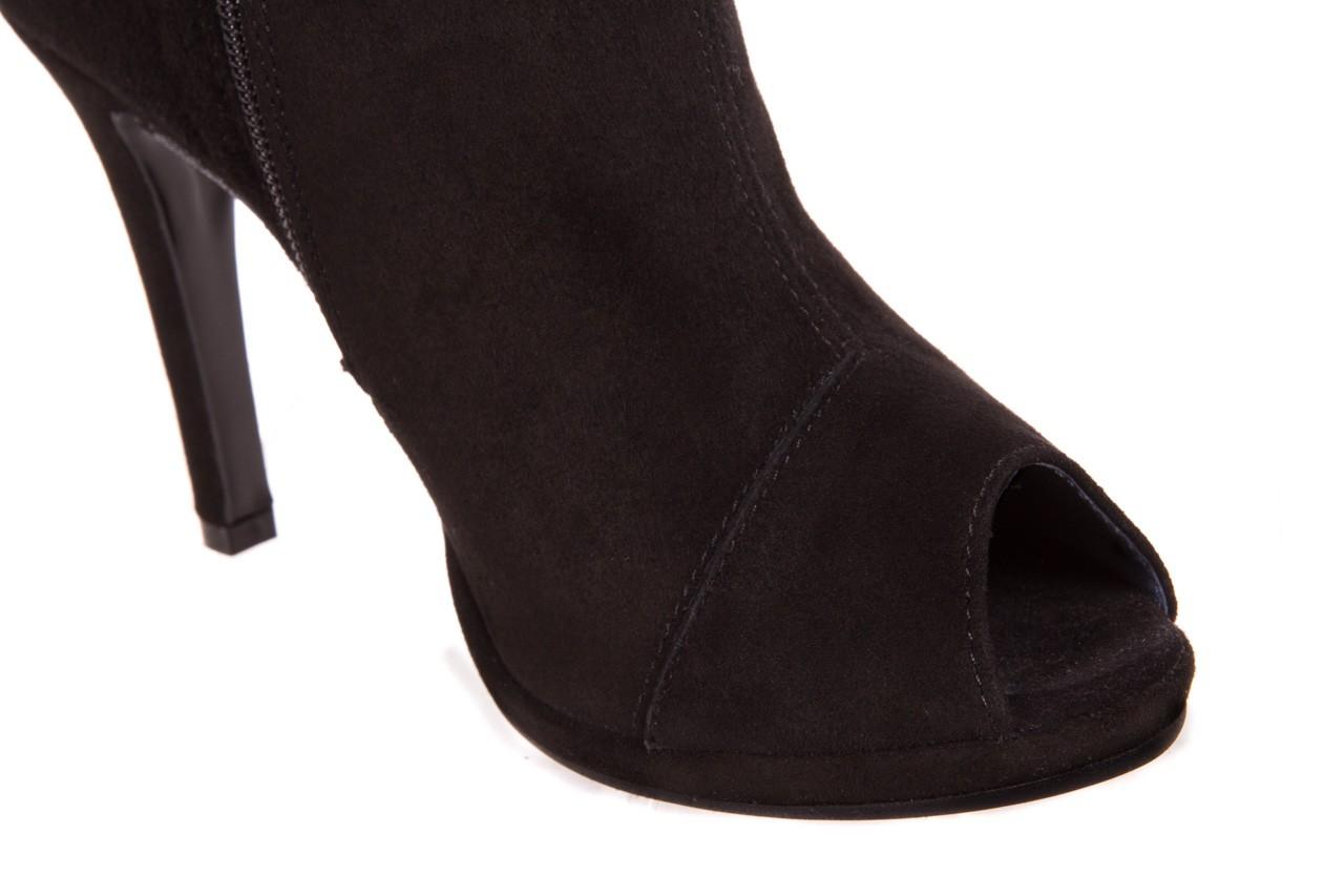 Botki bayla-076 1579z czarny, skóra naturalna  - zamszowe - szpilki - buty damskie - kobieta 9
