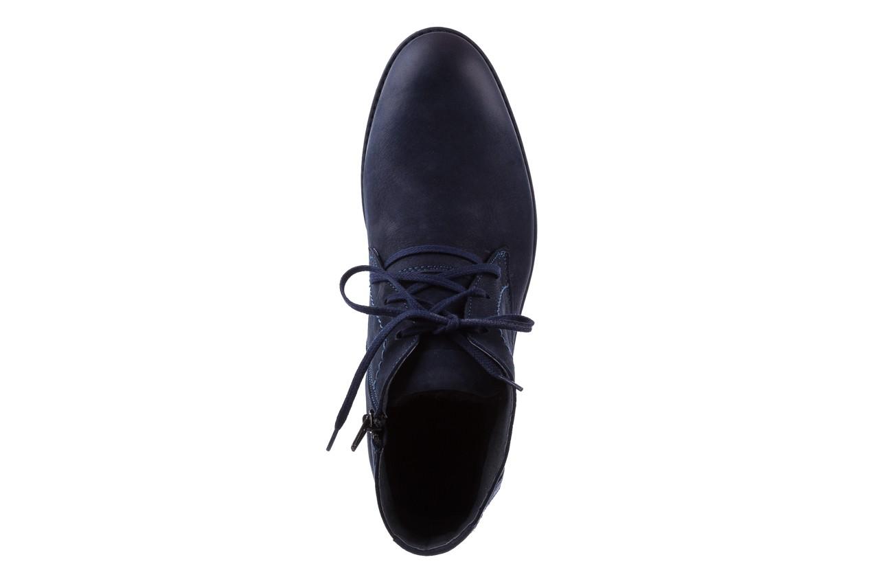 Trzewiki bayla-081 817 granat, skóra naturalna  - trzewiki - buty męskie - mężczyzna 11