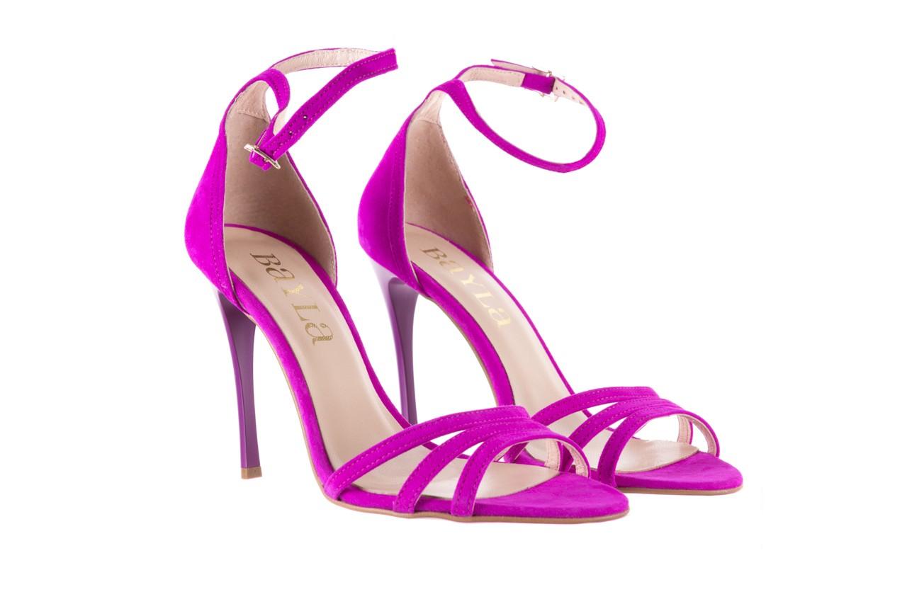 Sandały bayla-097 05 fuksjowe sandały, skóra naturalna  - bayla - nasze marki 8