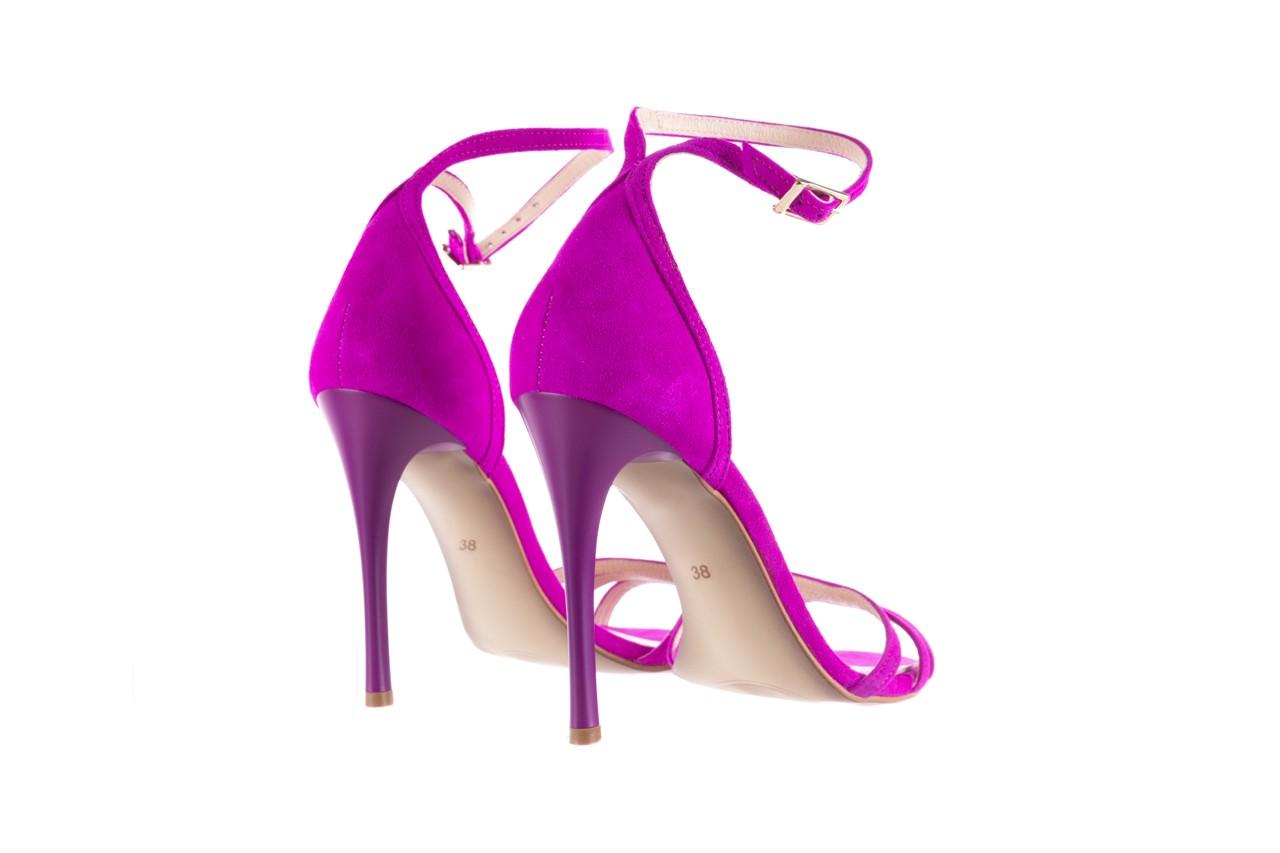 Sandały bayla-097 05 fuksjowe sandały, skóra naturalna  - bayla - nasze marki 10