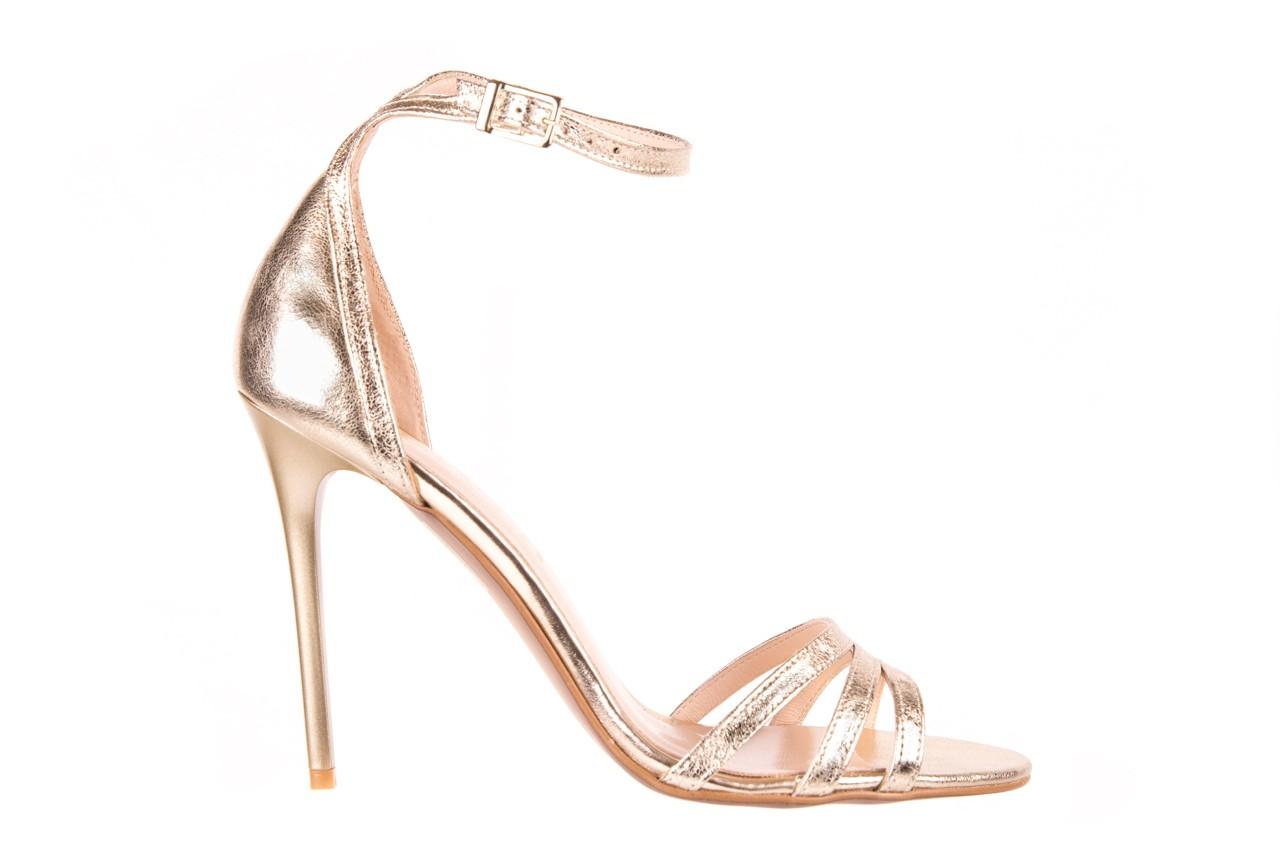 Sandały bayla-097 05 złote sandały, skóra naturalna  - bayla - nasze marki 5
