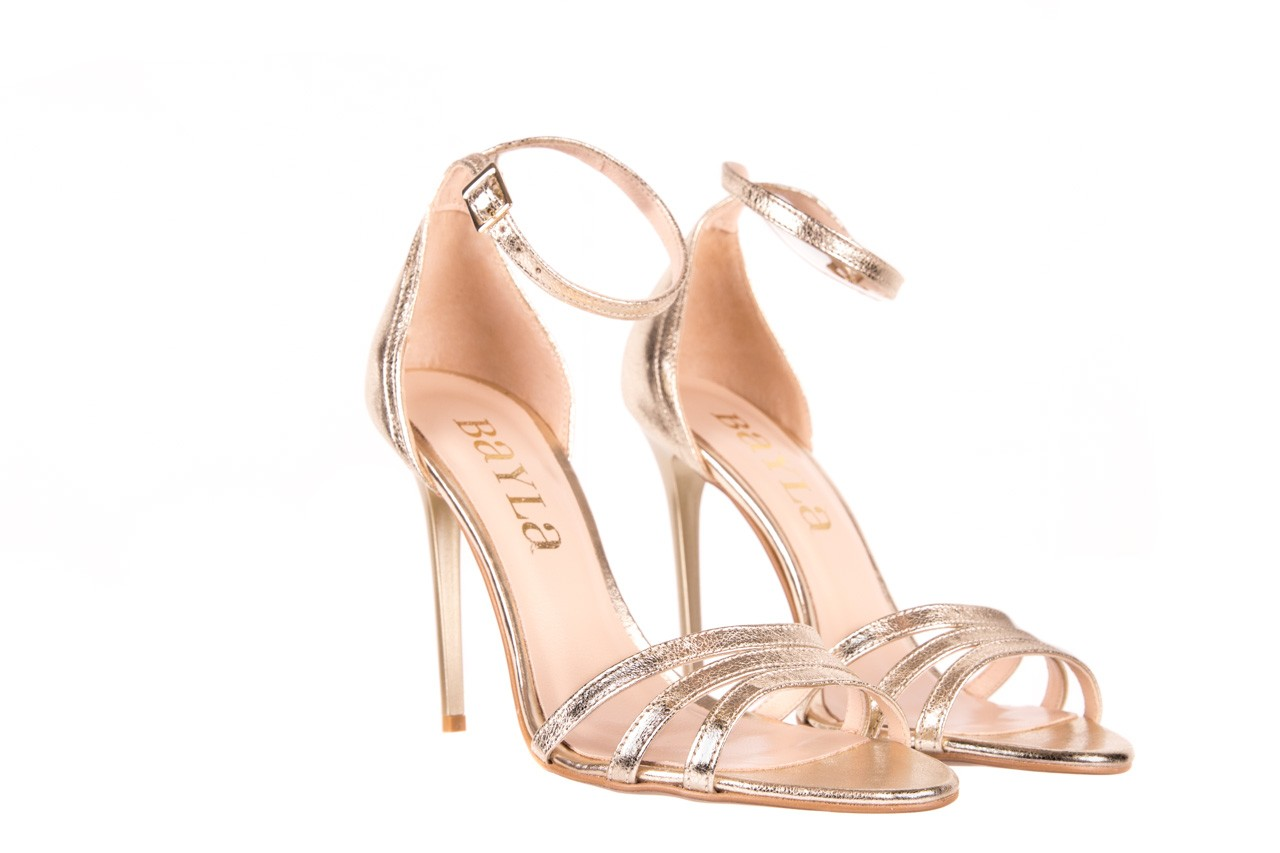 Sandały bayla-097 05 złote sandały, skóra naturalna  - bayla - nasze marki 6