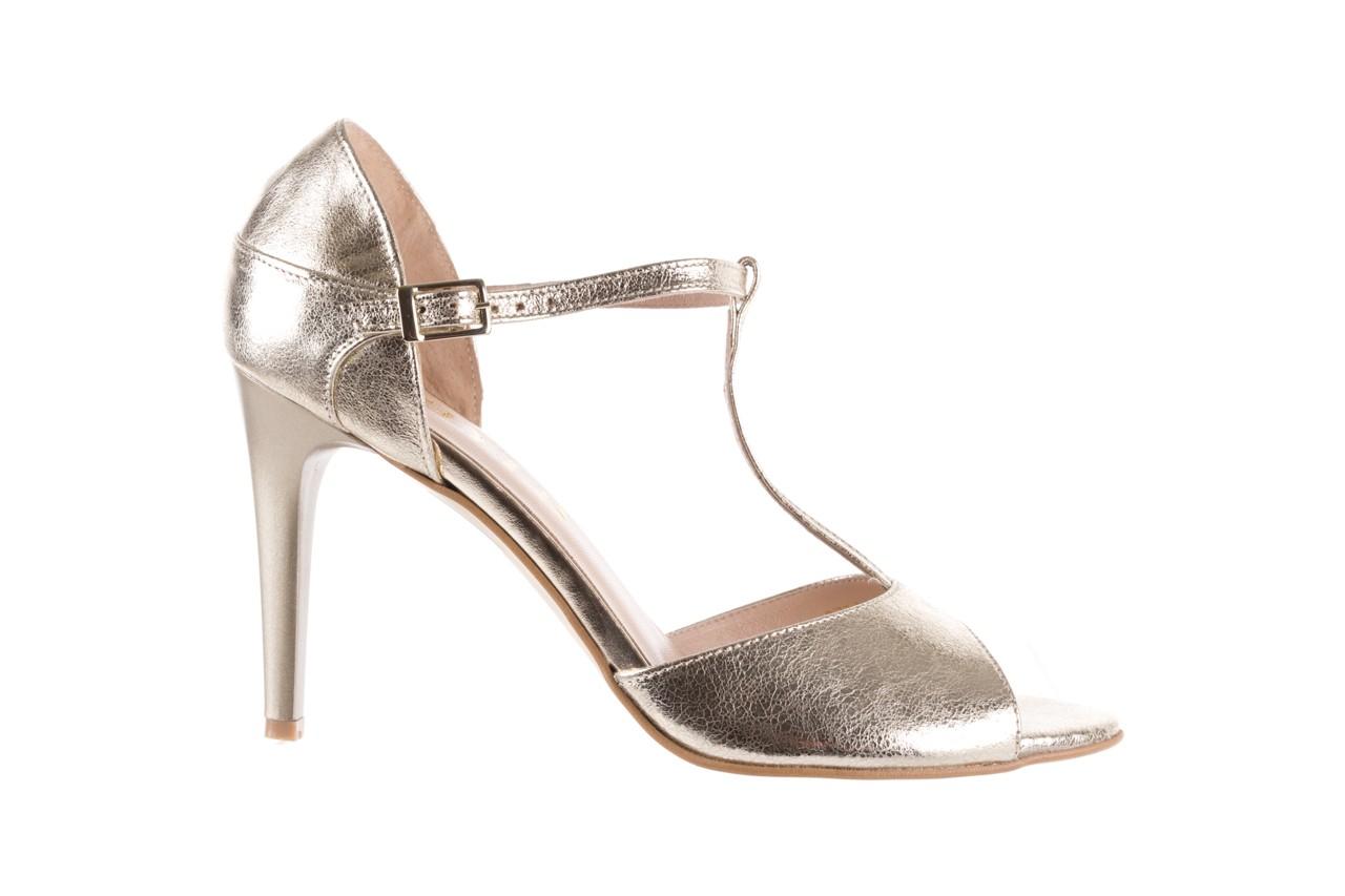 Sandały bayla-097 06 złote sandały, skóra naturalna  - bayla - nasze marki 8