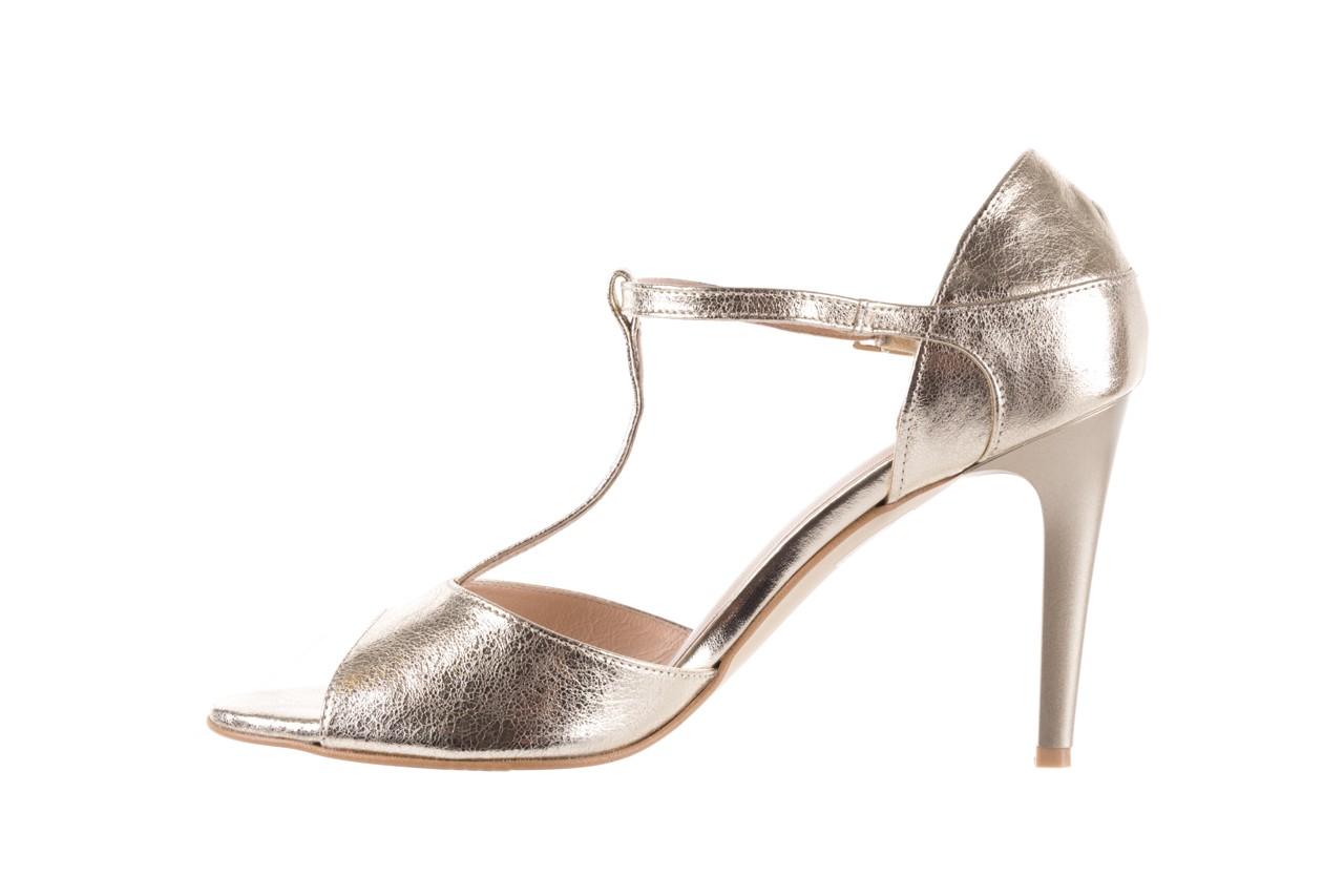 Sandały bayla-097 06 złote sandały, skóra naturalna  - bayla - nasze marki 10