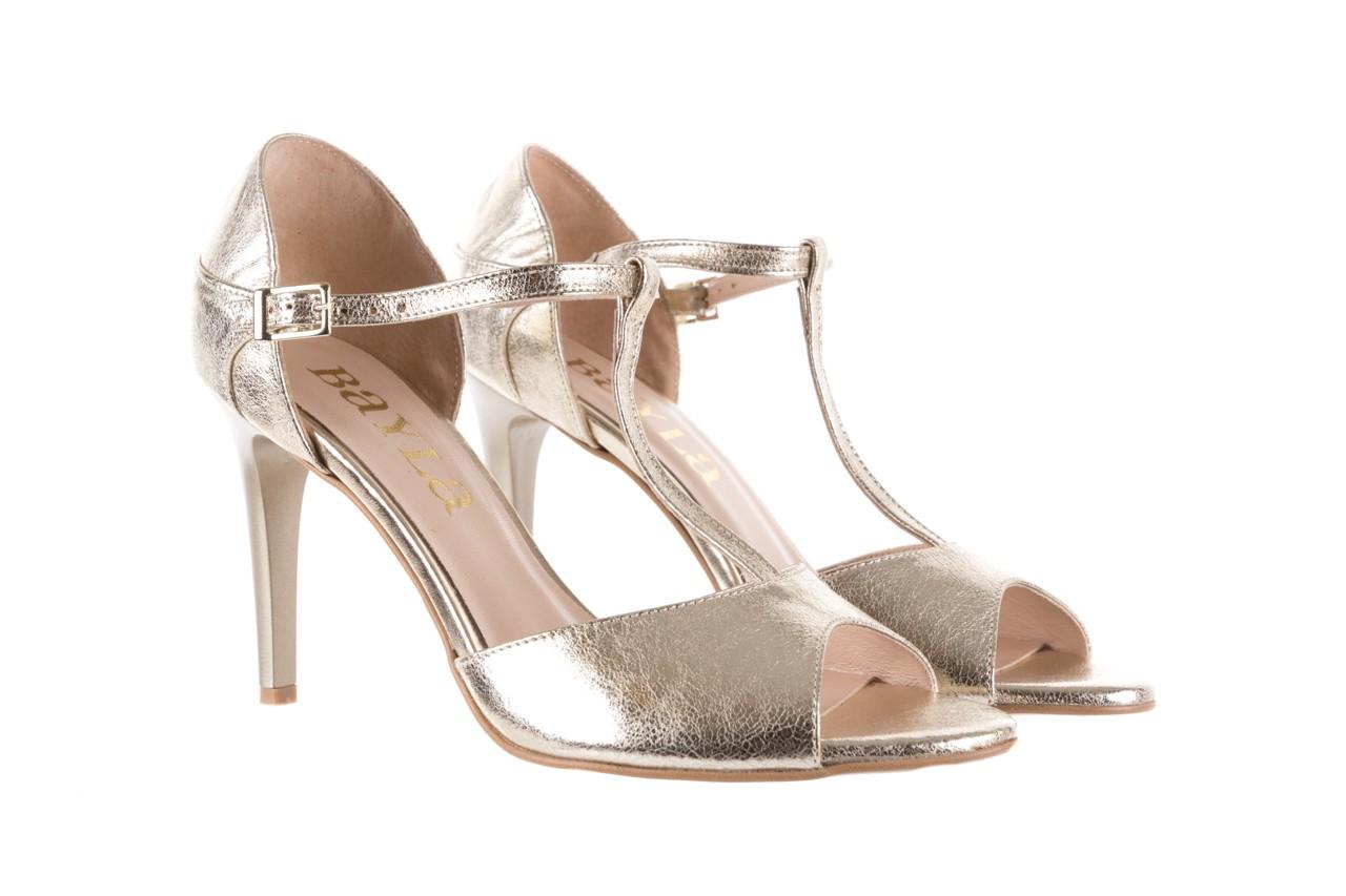 Sandały bayla-097 06 złote sandały, skóra naturalna  - bayla - nasze marki 9