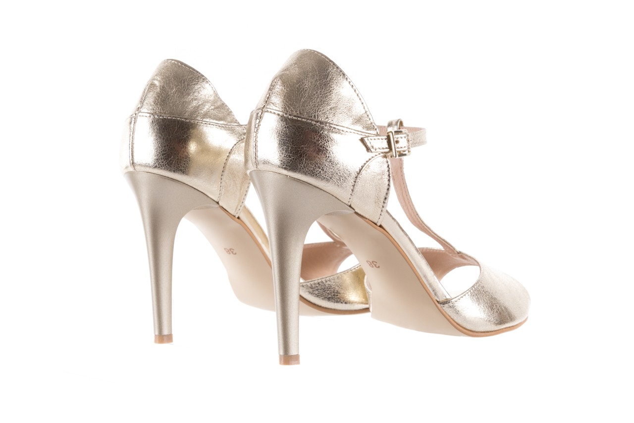 Sandały bayla-097 06 złote sandały, skóra naturalna  - bayla - nasze marki 11
