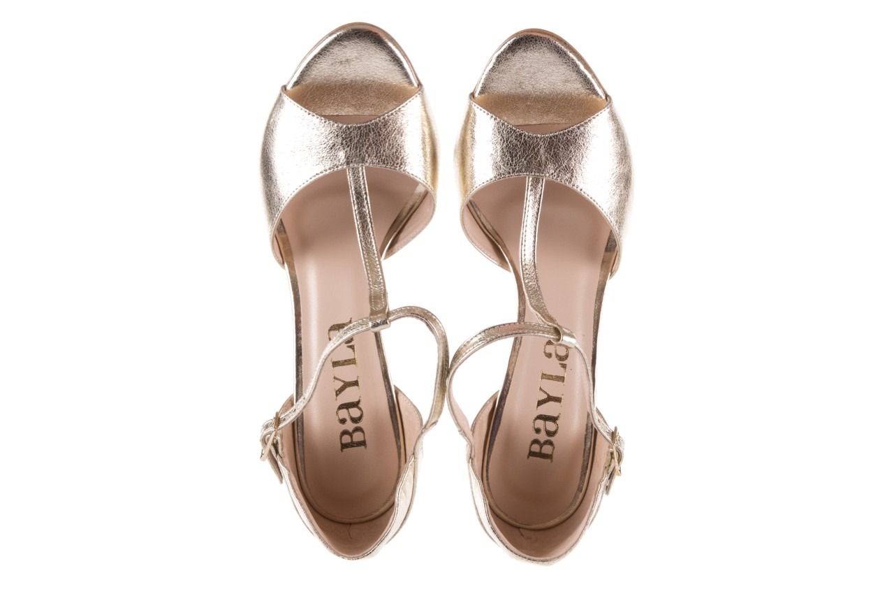 Sandały bayla-097 06 złote sandały, skóra naturalna  - bayla - nasze marki 12