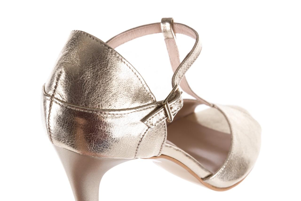 Sandały bayla-097 06 złote sandały, skóra naturalna  - bayla - nasze marki 13