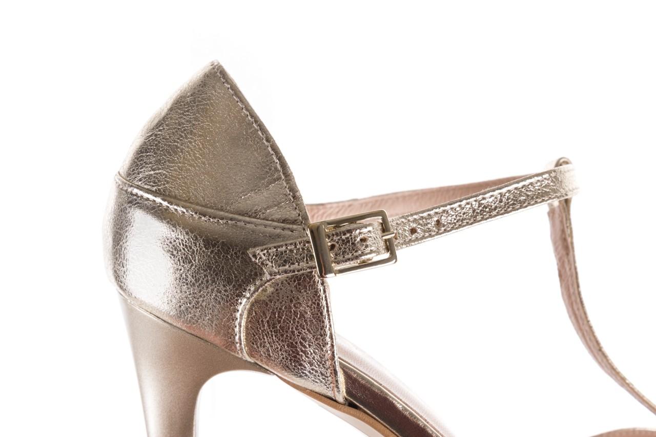 Sandały bayla-097 06 złote sandały, skóra naturalna  - bayla - nasze marki 15