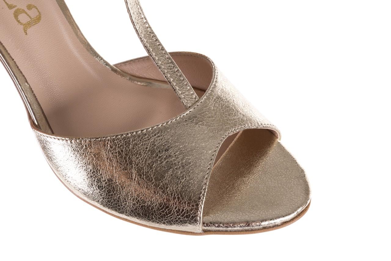 Sandały bayla-097 06 złote sandały, skóra naturalna  - bayla - nasze marki 14
