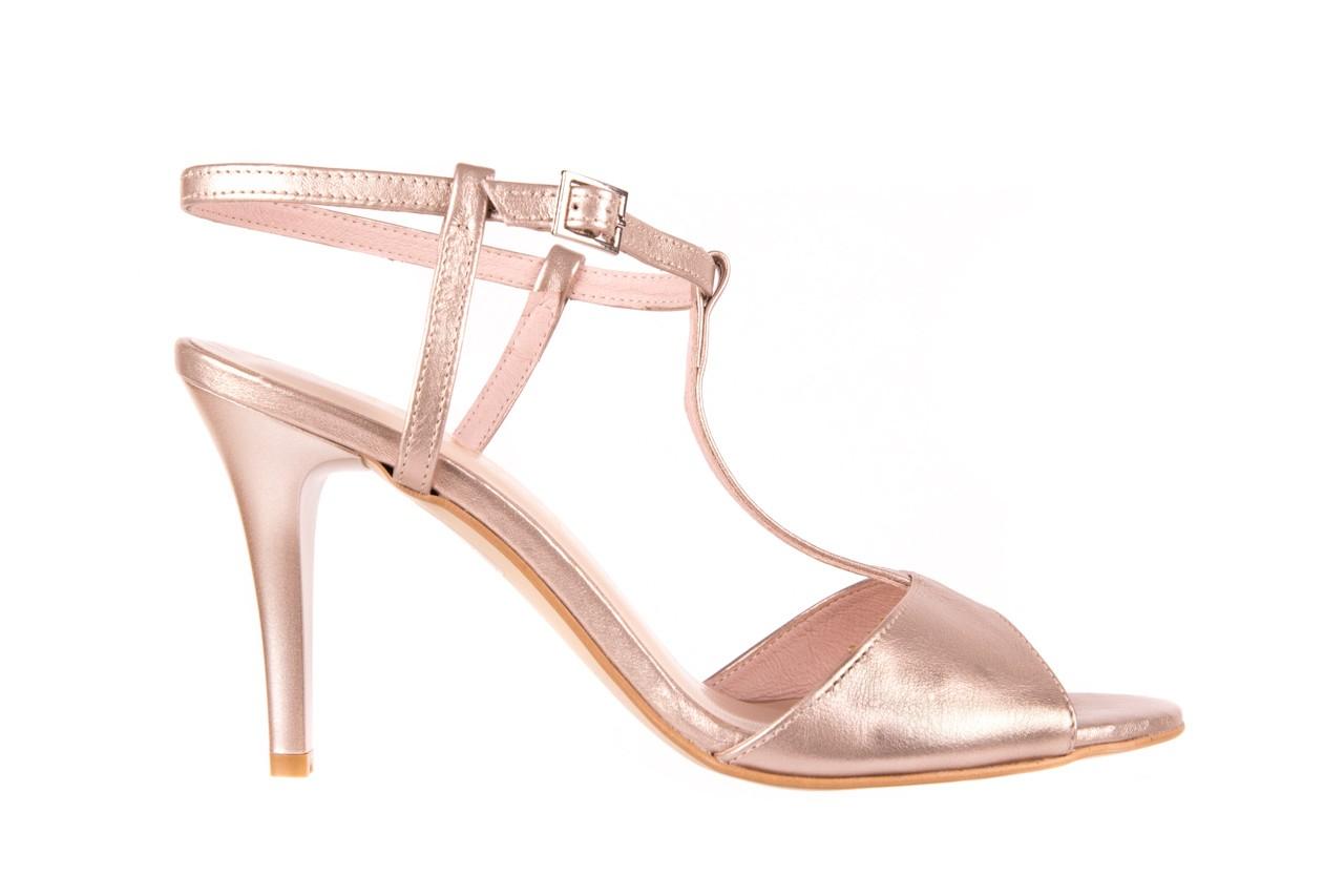 Sandały bayla-097 07 beżowe sandały, skóra naturalna  - kolekcja ślubna - trendy - kobieta 5