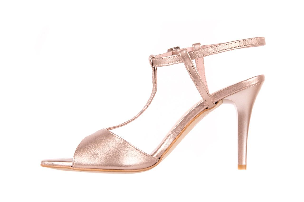Sandały bayla-097 07 beżowe sandały, skóra naturalna  - kolekcja ślubna - trendy - kobieta 7