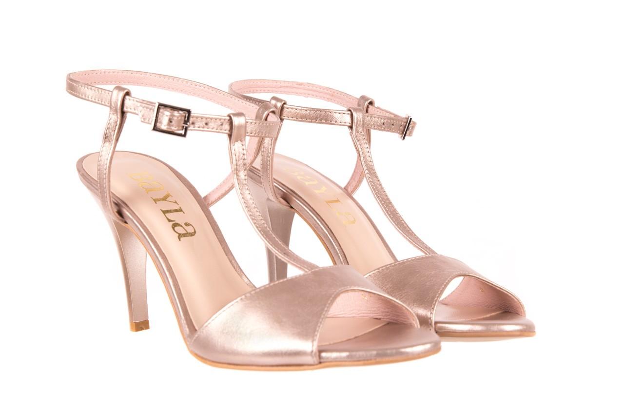 Sandały bayla-097 07 beżowe sandały, skóra naturalna  - kolekcja ślubna - trendy - kobieta 6
