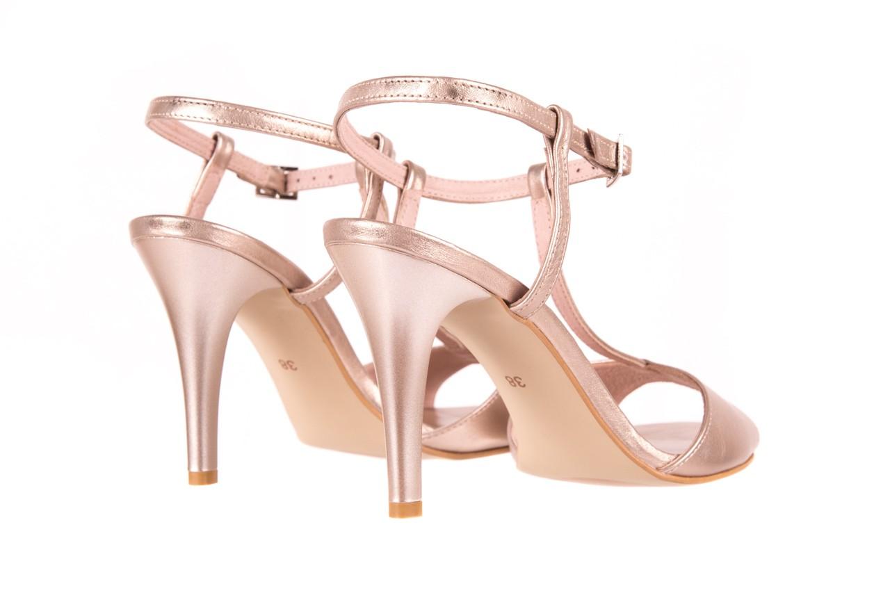 Sandały bayla-097 07 beżowe sandały, skóra naturalna  - kolekcja ślubna - trendy - kobieta 8