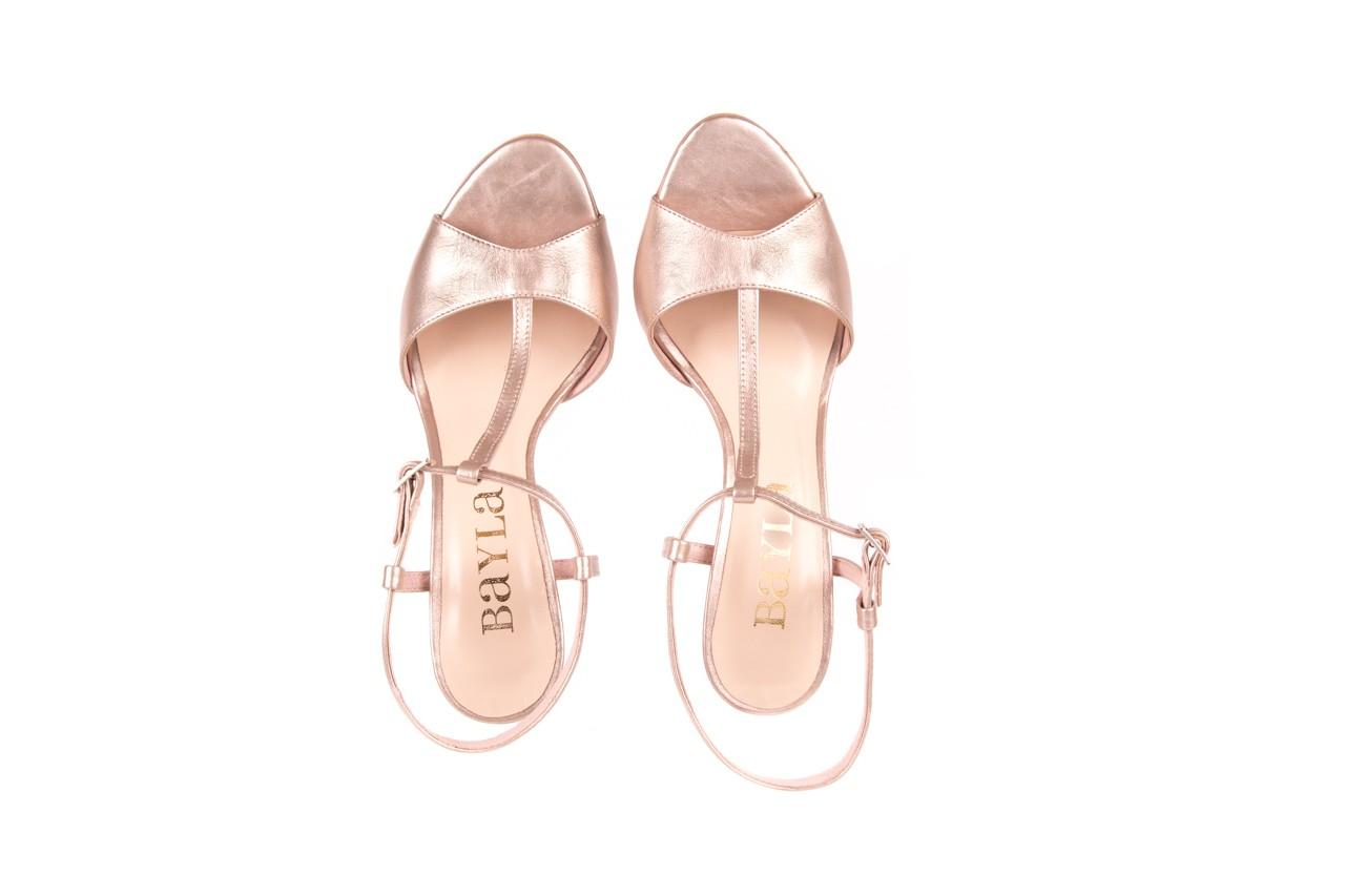 Sandały bayla-097 07 beżowe sandały, skóra naturalna  - kolekcja ślubna - trendy - kobieta 9