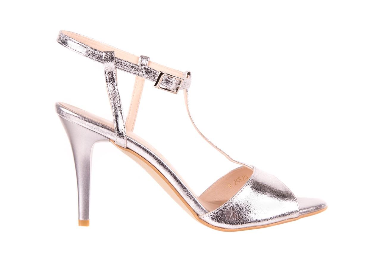 Sandały bayla-097 07 srebrne sandały, skóra naturalna  - bayla - nasze marki 6