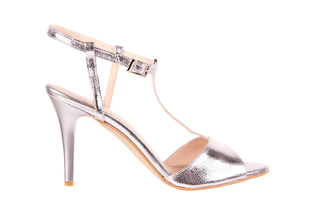 Sandały bayla-097 07 srebrne sandały, skóra naturalna 6
