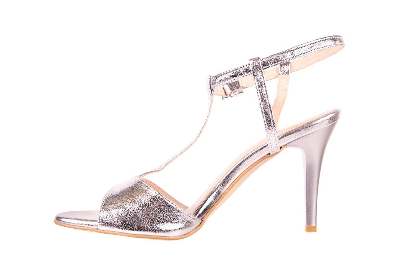 Sandały bayla-097 07 srebrne sandały, skóra naturalna  - bayla - nasze marki 8