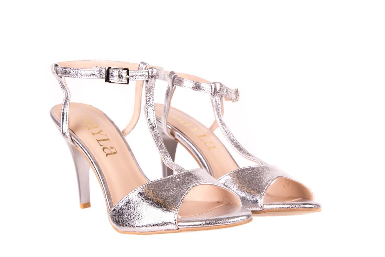 Sandały bayla-097 07 srebrne sandały, skóra naturalna 7