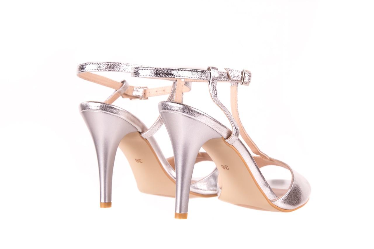 Sandały bayla-097 07 srebrne sandały, skóra naturalna  - bayla - nasze marki 9