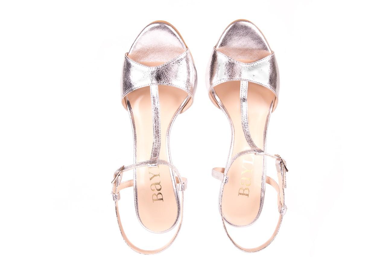 Sandały bayla-097 07 srebrne sandały, skóra naturalna 10
