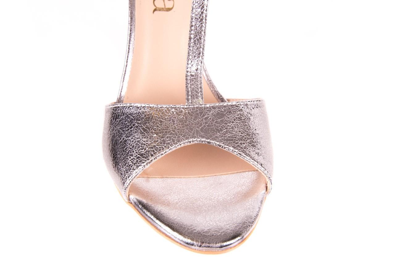 Sandały bayla-097 07 srebrne sandały, skóra naturalna 11