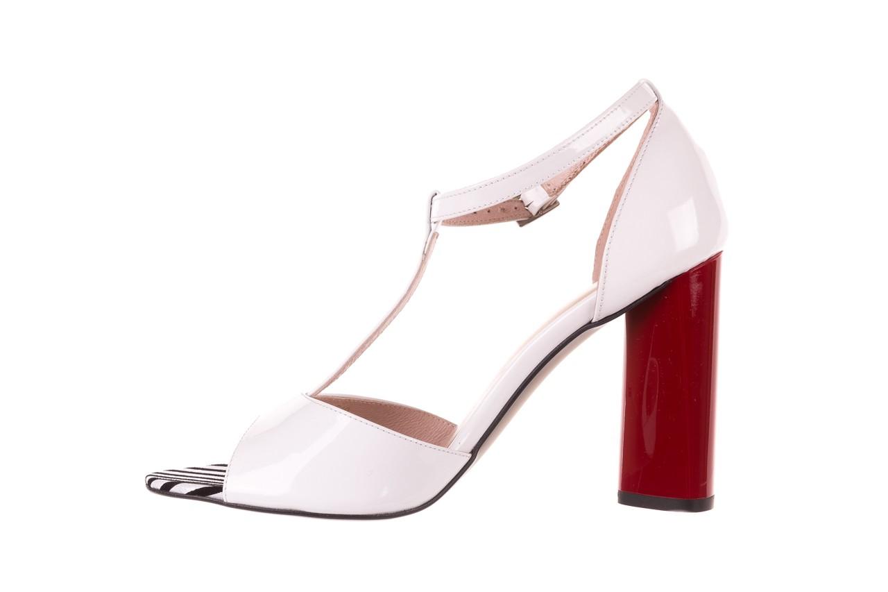 Sandały bayla-097 08 biało-czerwone sandały, skóra naturalna lakierowana  - kolekcja ślubna - trendy - kobieta 9
