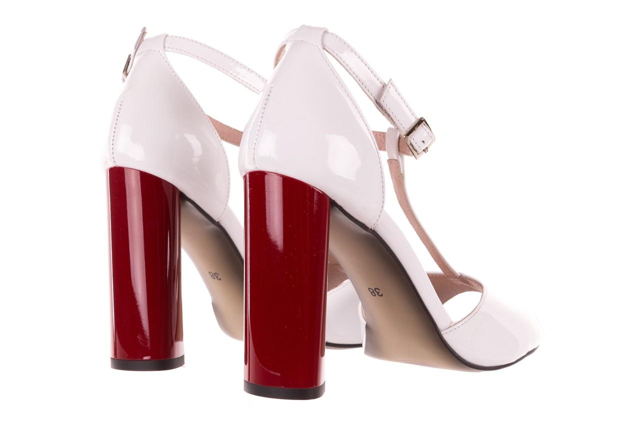Sandały bayla-097 08 biało-czerwone sandały, skóra naturalna lakierowana  - kolekcja ślubna - trendy - kobieta 10