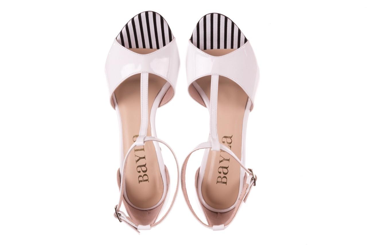 Sandały bayla-097 08 biało-czerwone sandały, skóra naturalna lakierowana  - kolekcja ślubna - trendy - kobieta 11