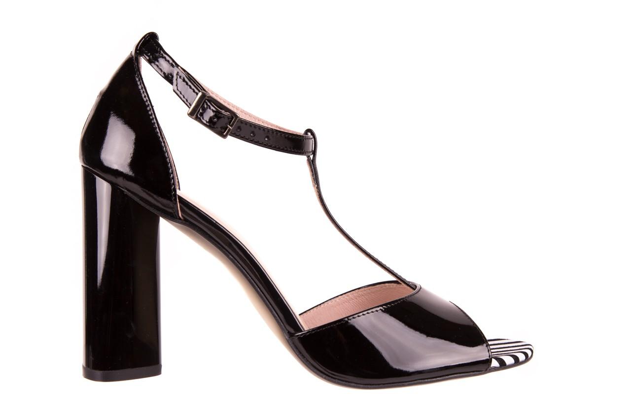 Sandały bayla-097 08 czarno - białe sandały, skóra naturalna lakierowana  - bayla - nasze marki 6