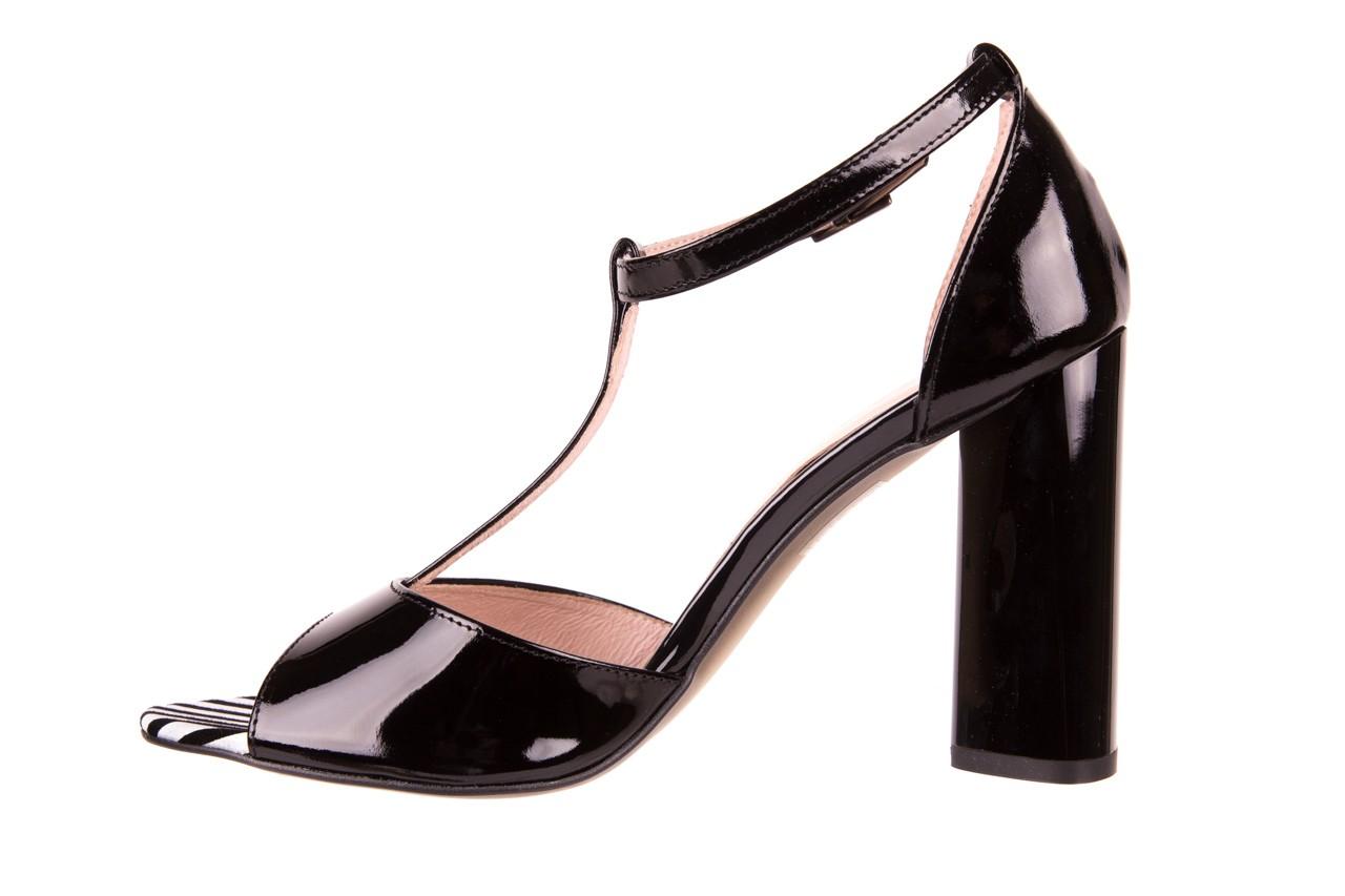Sandały bayla-097 08 czarno - białe sandały, skóra naturalna lakierowana  - bayla - nasze marki 8